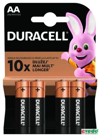 Duracell Basic Ceruza Elem AA 4db