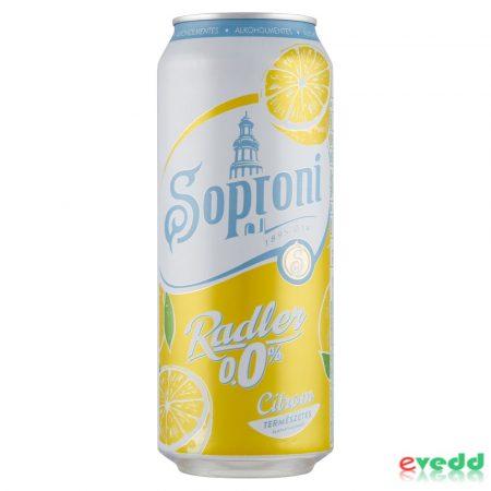 Soproni Zéró 0,5L Citrom