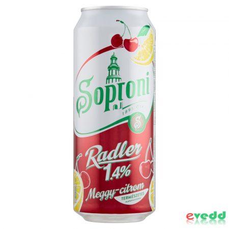 Soproni Radler Meggy-Citrom 1,4%