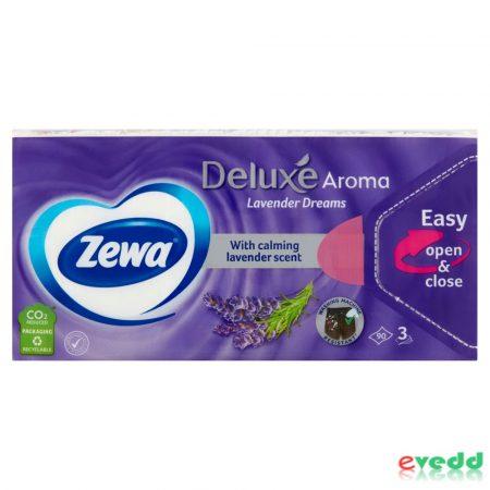 Zewa Deluxe Papír Zsebkendő 90Db Levendula
