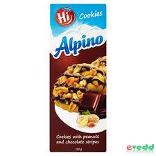 HI Alpino keksz 150G Mogyorós-Csokis