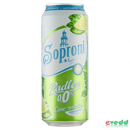 Soproni Zéro 0,5L Lime-Menta