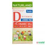 Naturland 60Db D+C Vitaminos Gyerek Rágótabletta